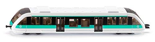 SIKU 1646001 - Train RATP, Métal/Plastique, Blanc/Turquoise, Compatible Avec Autres Jouets SIKU
