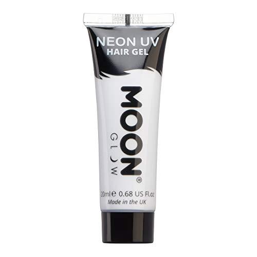 Moon Glow - Neon-UV-Haargel - 20ml Weiß - machen Sie sich leuchtende Spikes!