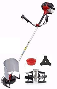 Turner Tools Petrol Brush Cutter with Tiller and Paddy Attachments