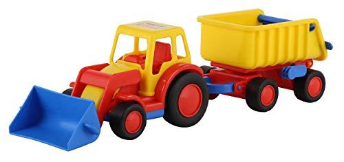 polesie  9623 Basics Traktor mit Frontschaufel und Kippanhänger