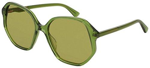 Sonnenbrillen Gucci GG0258S GREEN/GREEN Damenbrillen