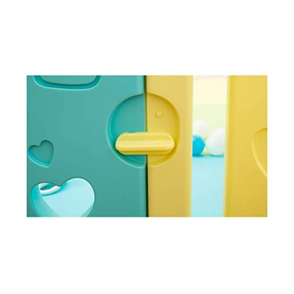 Baby Playpen - Children'S Safety Toys Crawling Mat - Activity Center - Environmental Hdpe - Suitable For 0-6 Children-11 Activity Panel - Rugged - Waterproof  ♥ You can use and combine all the fences to create entertainment for your child anywhere in the home. ♥ It can be changed into different shapes. You can change the frame according to your baby's preferences and bring a different feeling every day. ♥ Can be used as a fence or protective barrier, flexible mounting options, very simple assembly and unlimited scalability. 3