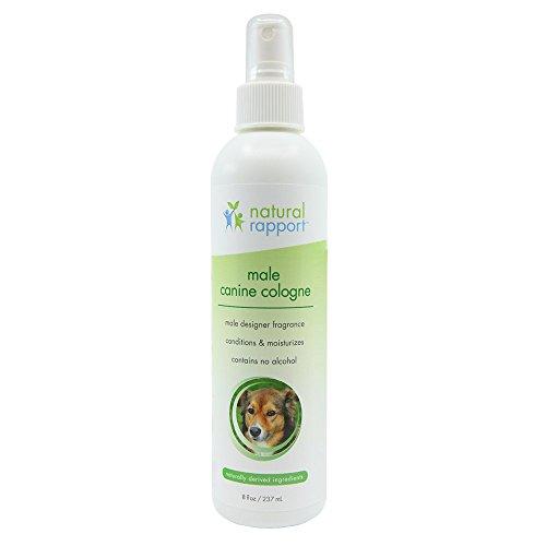 Natural Rapport - Spray de Colonia para Perro, 3 en 1, desodorizante Natural para Perros, también hidrata y suaviza el Abrigo, Fragancia Masculina, sin Alcohol, 236 ML