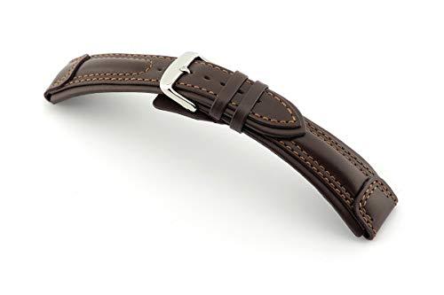 RIOS1931 Apulia Uhrenband handgemacht in Deutschland Klassisch 24mm Mokka - Und Band Mercier Uhr Baume