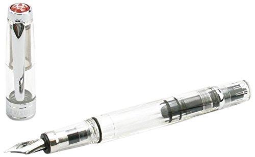 TWSBI Diamond 580 Clear,Pennino F,Penna Stilografica,Demonstrator,caricamento a stantuffo