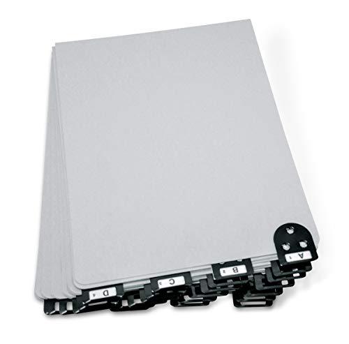 Master Metall Reiter Indizes für die Buchung Schalen, für Form Größe 21,6x 27,9cm, Gray (mat14522) (Master-index)