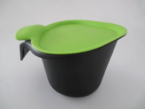 TUPPERWARE Küchenhelfer Tischmüll Adretto 2,5 L schwarz-grün