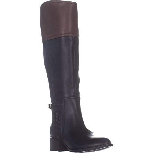Tommy Hilfiger Frauen Merritt Pumps rund Leder Fashion Stiefel Schwarz Groesse 6 US /37 EU -