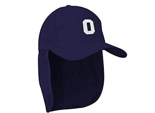 Junior-Legionär-Stil Jungen Mädchen Mütze Baseball Nackenschutz Sonnenschutz Cap Hut Kinder Kappe A-Z Letter MFAZ Morefaz Ltd (O)