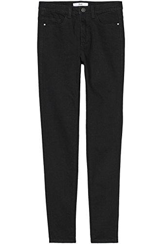 FIND Jeans Skinny a Vita Medio-Alta Donna Nero (True Black)