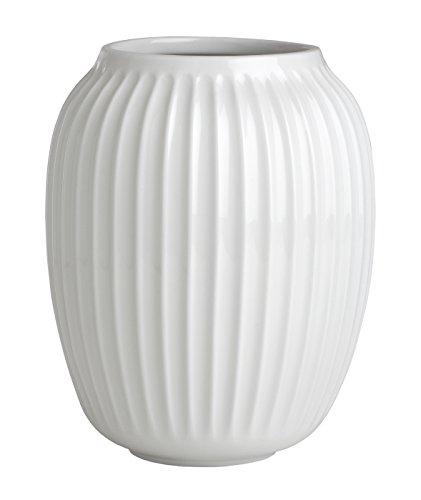 Kähler Hammershøi Vase, Keramik, Weiß 20 x 16,5 cm