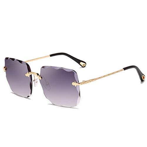 in vendita 25890 f3090 Lorjoyx Unisex Senza Orlo Onda Quadra Trimming Occhiali da Sole Protezione  UV 400 delle Donne degli Uomini degli Occhiali Anti-UV Outdoor Occhiali da  ...