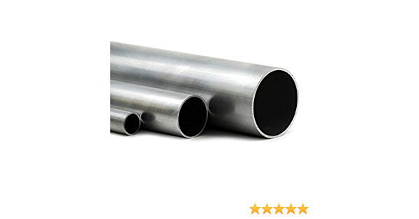 Aluminium Rundrohr AlMgSi05 /Ø 80x5mm L/änge 250mm 25cm auf Zuschnitt