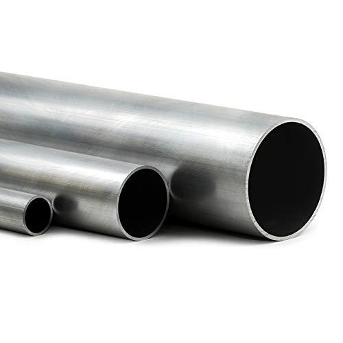 Aluminium Rundrohr AlMgSi05 Ø 100x3mm - Länge 50mm / 5cm auf Zuschnitt -
