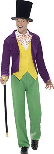 Smiffy's 42850L - Herren Willy Wonka Kostüm, Größe: L, mehrfarbig