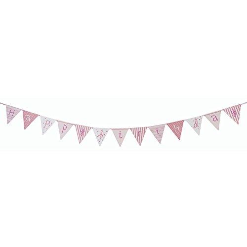 """talking-tables Geburtstagsgirlande """"Pink N Mix"""" (Happy Birthday) Jungen Mädchen"""
