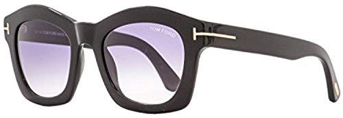 Tom ford ft0431 01z 50, montature donna, (nero lucido\\viola grad e/o specchiato), 50.0