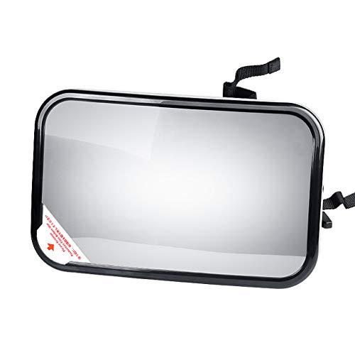 Royalr Baby-Rückspiegel Einstellbarer Gürtel Kind Kinder-Auto-Sicherheits-Monitor Kopfstütze Infant hinten konvexer Spiegel (Computer-monitor-rückspiegel)