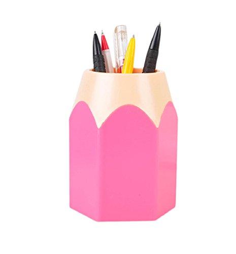 Bleistift Spitzen Stifthalter Tonsee Make-up Pinsel Vase Pencil Pot Schreibwaren Lagerung,Rosa
