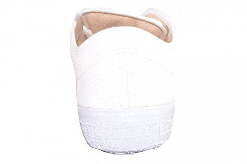 Kawasaki Unisex Sneaker Basic Canvas All White - WEIß (WHITE, 01)