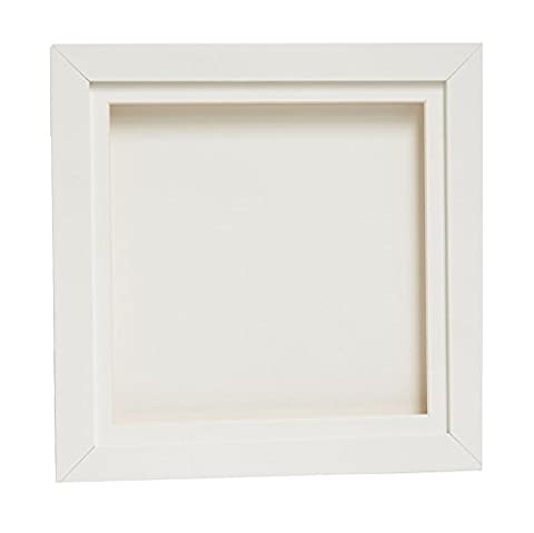 White 3D Deep Box Picture Frame Display Memory Box For Medals Memorabilia Flowers (A3, White)