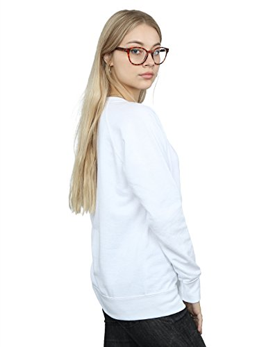 Looney Tunes Femme Tweety Pie Striped Faux Pocket Sweat-Shirt Blanc