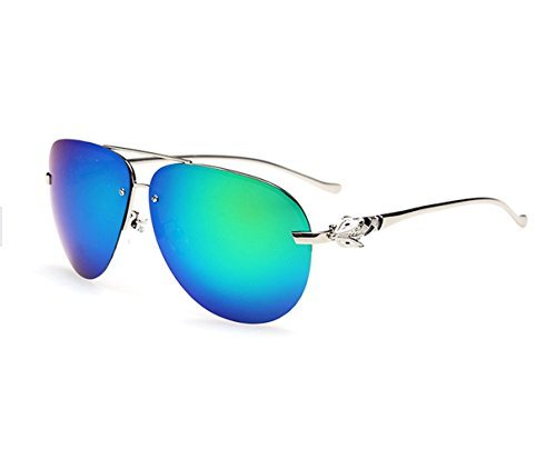 TELAM fox head Bright reflective coating advanced polarized sunglasses