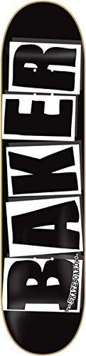 Baker Brand Logo Deck-8.0 Black/White Skateboard Deck by Baker