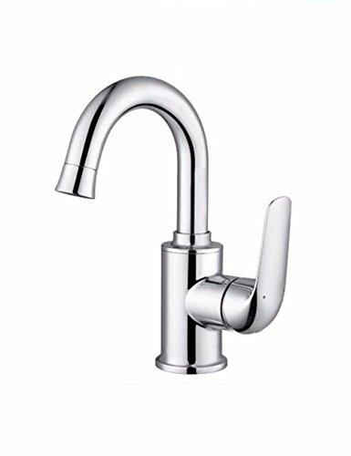SJQKA-hahn, heiß und kalt, mit hohen kupfer einrichtungsstil bad becken wasserhahn, waschbecken und toilette wasserhahn aufgedreht.