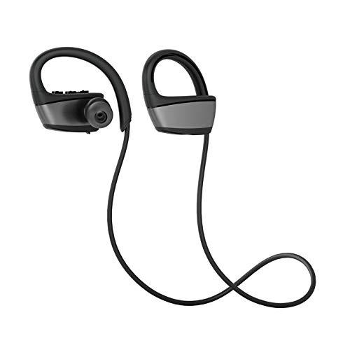 IPX7 Wasserdichte kabellose Bluetooth-Kopfhörer mit Geräuschunterdrückung Schwarz