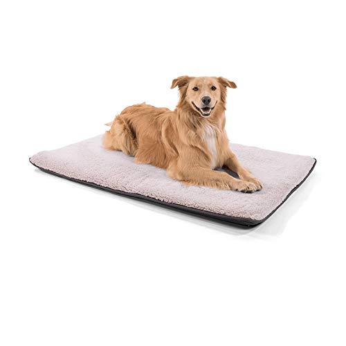 """brunolie """"Finn"""" große Hundematte, waschbar, hygienisch und Rutschfest, gemütliche Hundedecke passend für den Kofferraum in Beige, Größe L"""
