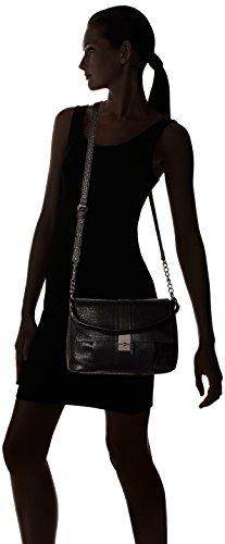 French Connection Izzy Damen Kunstleder Messenger-Taschen Black
