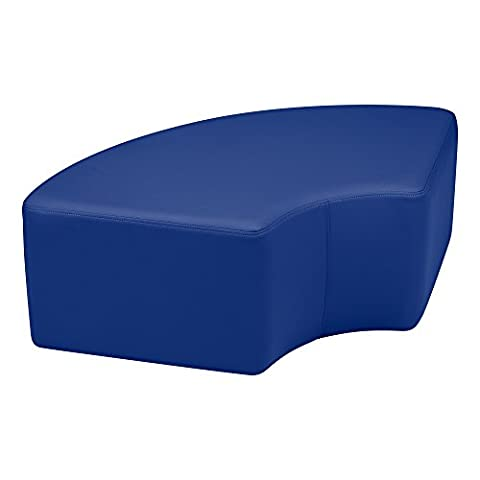 'sprogs Kids vinyle Soft Seating Curved Stool, 12H, Blue, SPG-1018bl A