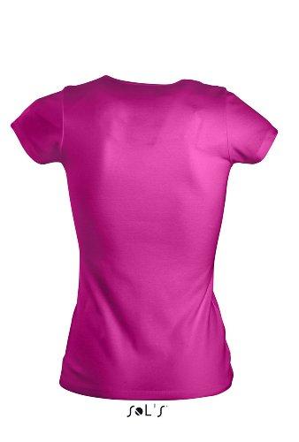 Sol di - T-shirt da donna Moody Fucsia