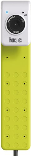 Hercules HD Twist - green (Webcam, USB, 720p Video, 5 MP Foto (interpoliert), Mikrofon, PC)