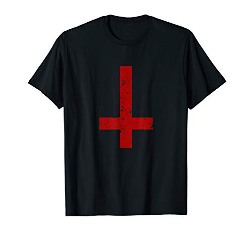 Umgedrehtes Petrus-Kreuz Luzifer Siegel Dämon Fun T-Shirt