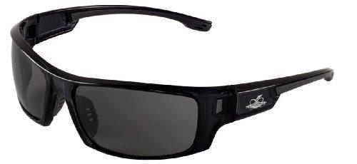 Bullhead Safety Eyewear BH943AF Dorado, Crystal Black Frame, Smoke Anti-Fog Lens, Gray TPR Nose and Temple (1 Pair) by Bullhead Safety Eyewear