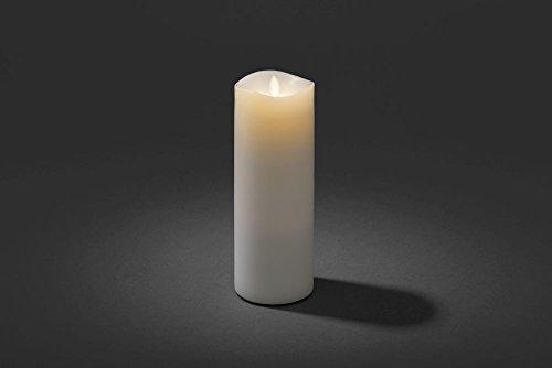 Konstsmide 1862–100LED Vela Aromática, color blanco, centelleante), con de lavanda duftpad/para interior (IP20)/Tamaño: 9cm de diámetro, altura: 23cm/temporizador/1diodo blanco/Funciona Con Pilas: 2x D 1.5V (excepto.)