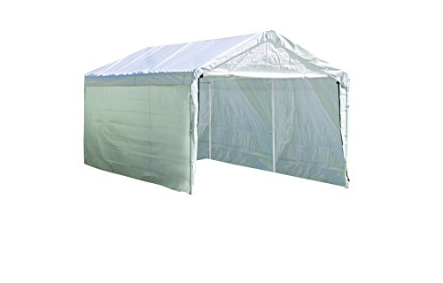 ShelterLogic 10 x 20- Feet Canopy Enclosure Kit, Fits 2- Inch Frame, White (Side Panels Only Shelter Accessory) by ShelterLogic - Bett Baldachin-twin