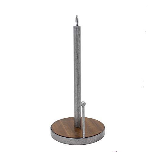 Dfghbn Eisen-Akazienholz-freistehender Papierhandtuchhalter für Badezimmer-Küchen-Speisetisch, kreativer vertikaler Küchen-Rollenpapierhandtuchhalter Tissue Holder Arbeitsplatte (Farbe : A)