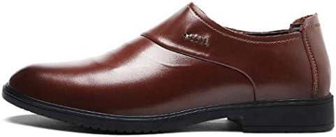 Zapatos de Vestir para Hombres con holgazán de Deslizamiento - Zapatos Casuales de Esmoquin clásico