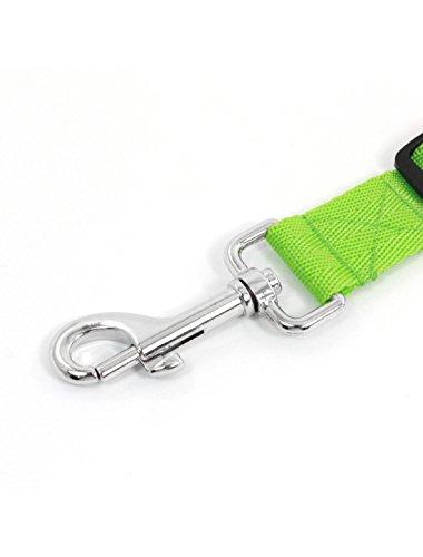 Sourcingmap Training Verstellbare Nylon Pet Halsband Hundeleine Leine Mit Clip, Grün