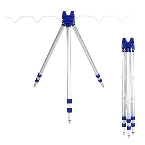Cocoarm Tripod Dreibein Dreibein-Stativ Angelruten Einstellbar Rutenhalter Dreibein Teleskopbeinen ideal zum Brandungsangeln aus Alu