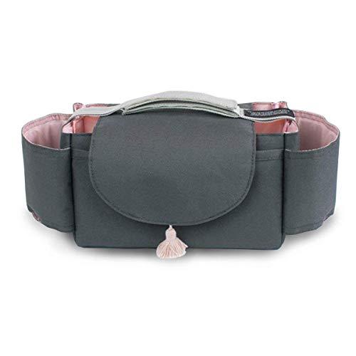 Sac de rangement pour poussette, sac à poussette, sac de rangement pour portefeuille, couches, boissons, jouets et aliments