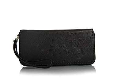 Fiona Trends Women's PU Clutch Bag (115-black)