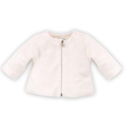 Pinokio - Magic- Fleecejacke Sweatjacke weich für Babys und Kids - 100% Polyester, Futter aus 100% Baumwolle Weiß Creme - Jacke für Mädchen Unisex (68) (Creme-fleece-jacke)