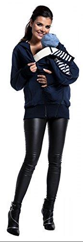 Zeta Ville - Umstand Sweatshirt Babytragens herausnehmbaren Panel - Damen - 430c Marine