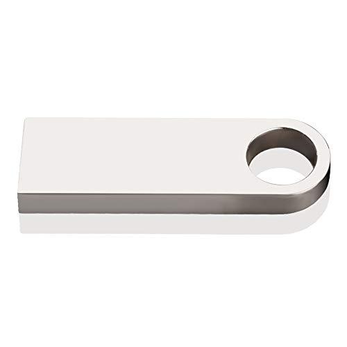 Zmsdt USB-Flash-Laufwerk 64 GB 32 GB 16 GB 8 GB 4 GB Pen Drive Wasserdichtes Metall Silber U Disk USB Geschenk (Farbe : Silber, größe : 4GB)