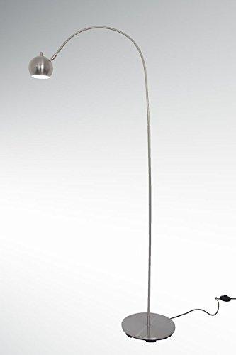 LED Stehleuchte Bogenleuchte ARCHI F nickel matt tageslichtweiß