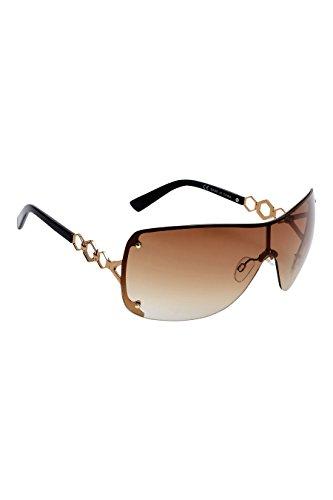 next Damen Visor Sonnenbrille Bronze Einheitsgröße